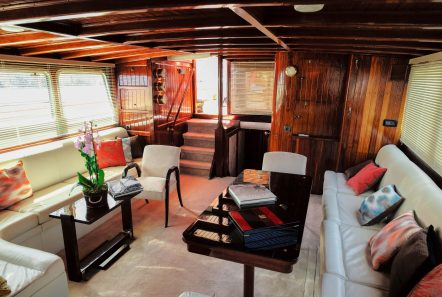 astarte motor sailer lounge to stern -  Valef Yachts Chartering - 3597