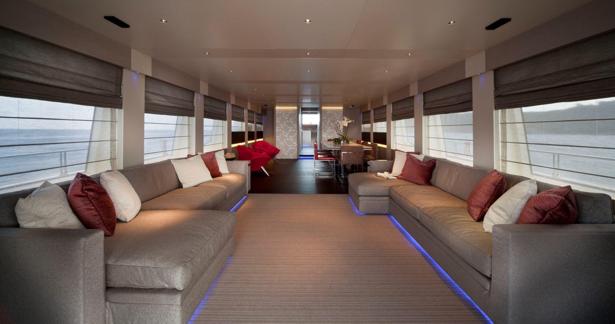 aurora motor yacht salon min -  Valef Yachts Chartering - 2606