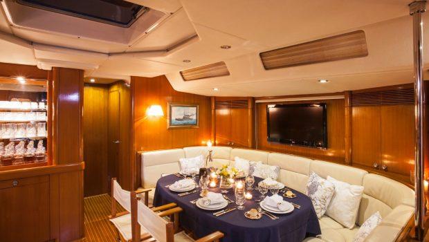 callisto sailing yacht salon dining (1) -  Valef Yachts Chartering - 3245