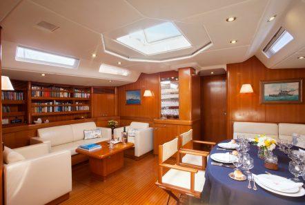 callisto sailing yacht salon dining (2) -  Valef Yachts Chartering - 3228