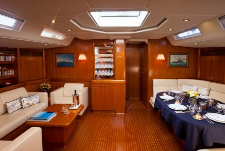 callisto sailing yacht salon dining (3) -  Valef Yachts Chartering - 3227