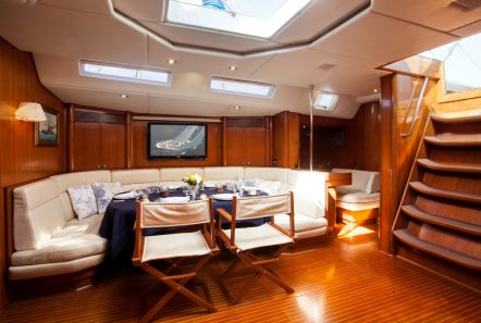 callisto sailing yacht salon dining (4) -  Valef Yachts Chartering - 3247