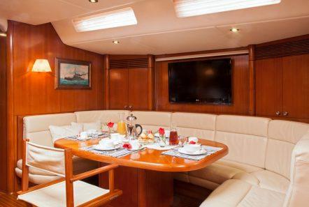 callisto sailing yacht salon dining (5) -  Valef Yachts Chartering - 3246