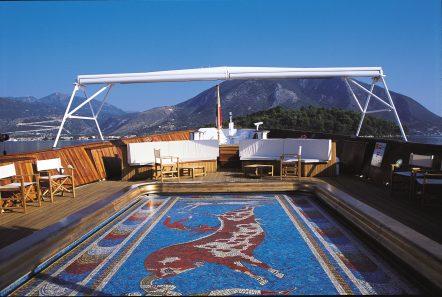 christina o superyacht mosaic pool (1) min -  Valef Yachts Chartering - 3569
