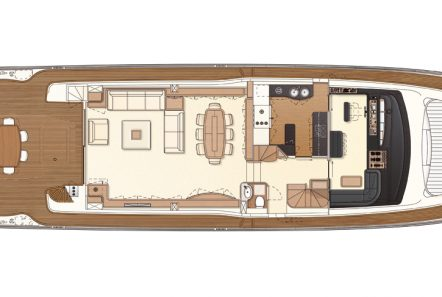 day off motor yacht deck plan (1) -  Valef Yachts Chartering - 3297