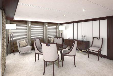 grand ocean mega yacht charter beach lounge (2) min -  Valef Yachts Chartering - 3098
