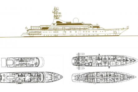 grand ocean mega yacht charter deck plans -  Valef Yachts Chartering - 3097