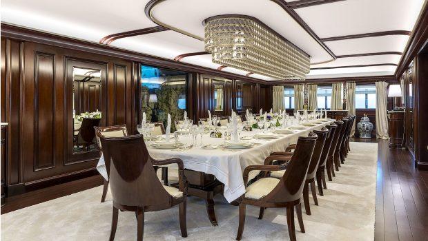 grand ocean mega yacht charter dining salon min -  Valef Yachts Chartering - 3095