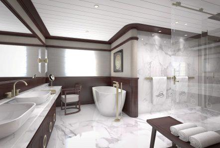 grand ocean mega yacht charter owner bath -  Valef Yachts Chartering - 3104