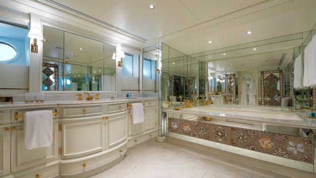 grand ocean mega yacht charter owner bathroom (2) min -  Valef Yachts Chartering - 3089