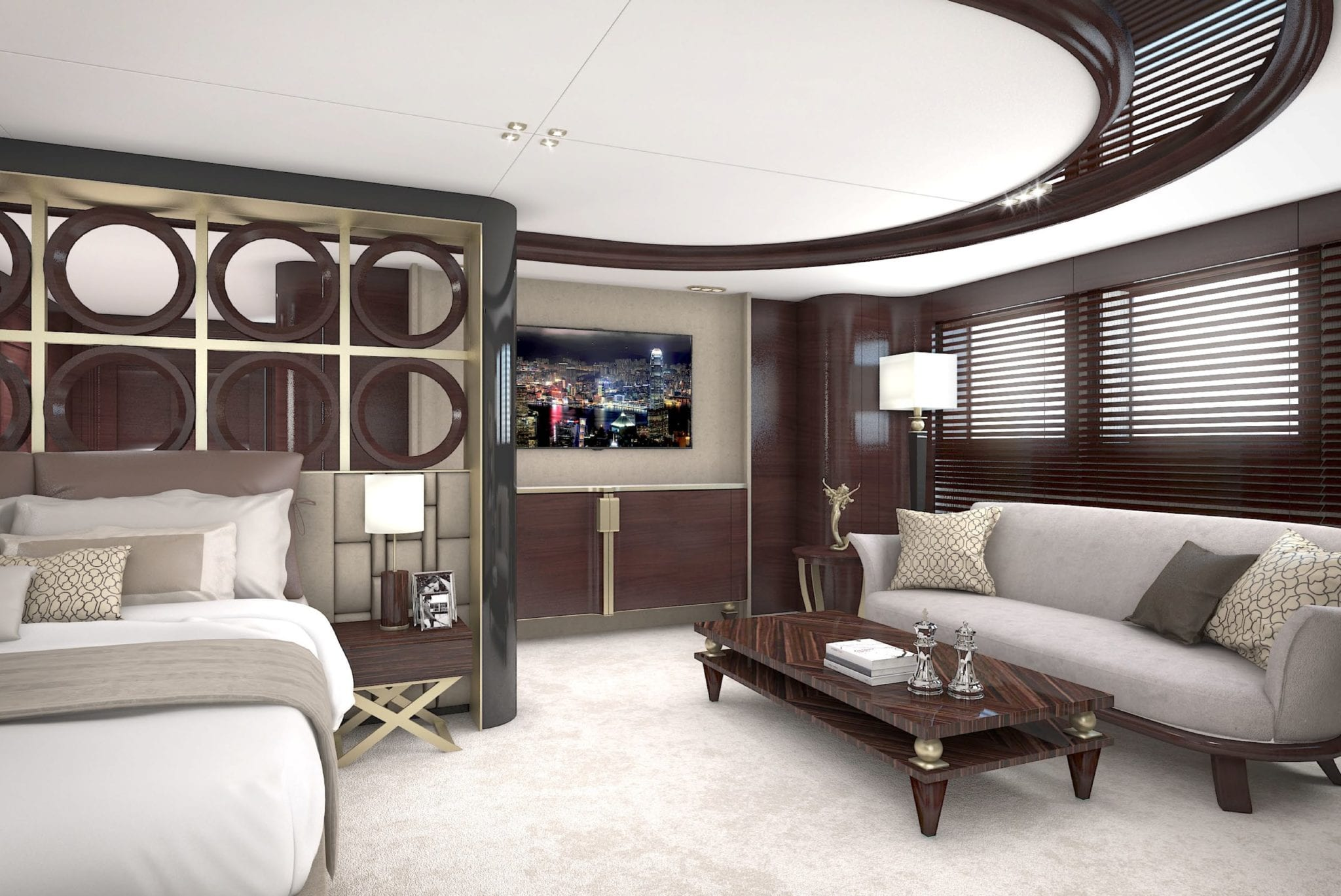 grand ocean mega yacht charter owners suite (3) min -  Valef Yachts Chartering - 3083