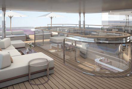 grand ocean mega yacht charter top deck (1) min -  Valef Yachts Chartering - 3066