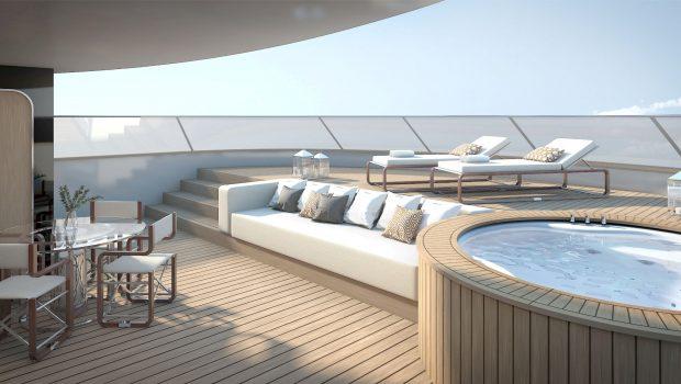 grand ocean mega yacht charter top deck (2) min -  Valef Yachts Chartering - 3065