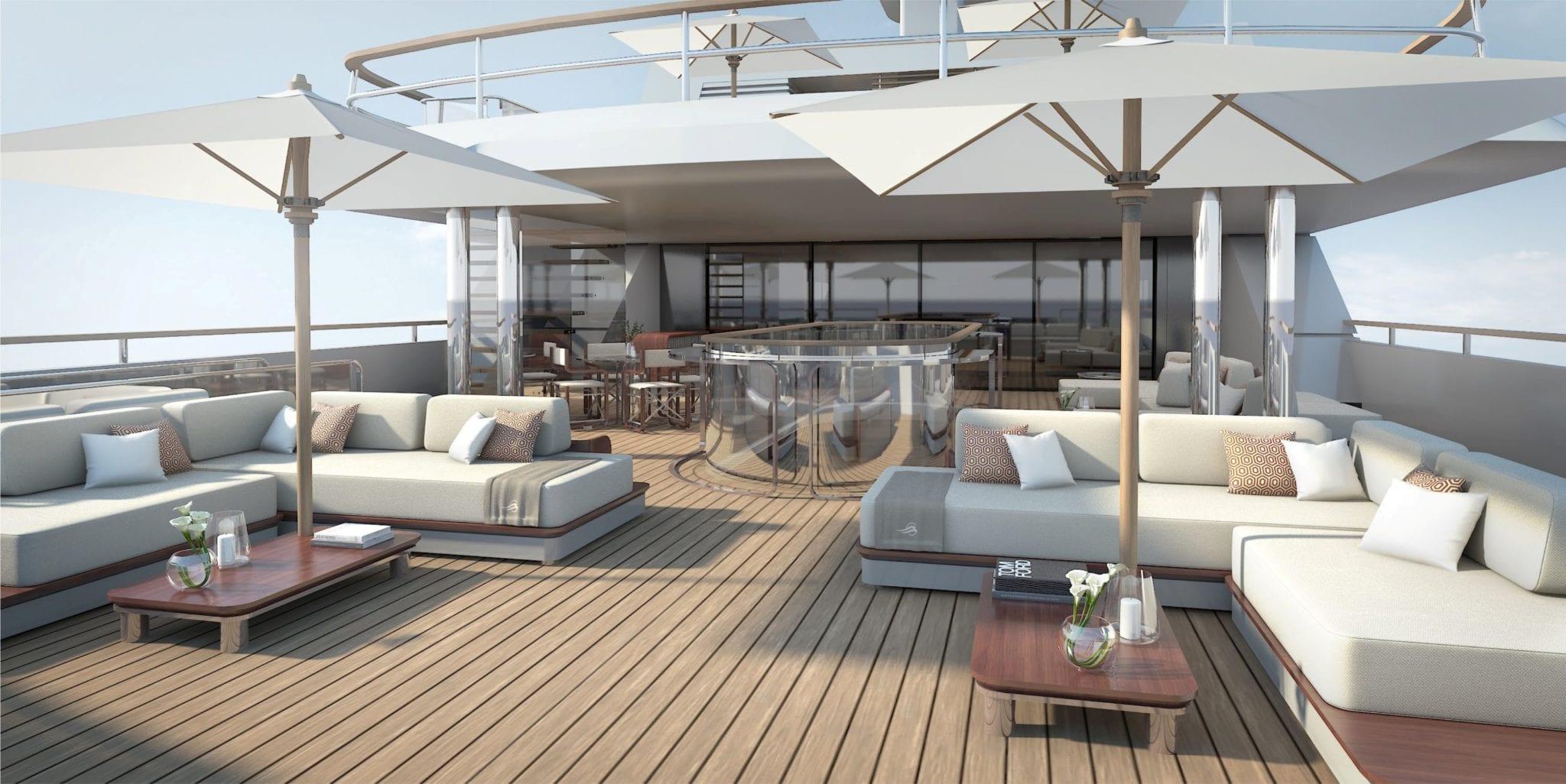 grand ocean mega yacht charter top deck (3) min -  Valef Yachts Chartering - 3064
