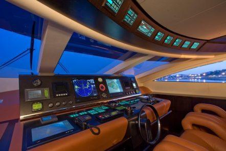 kambos blue open motor yacht bridge -  Valef Yachts Chartering - 3189