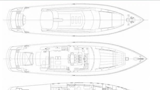 kambos blue open motor yacht deckplan -  Valef Yachts Chartering - 3188