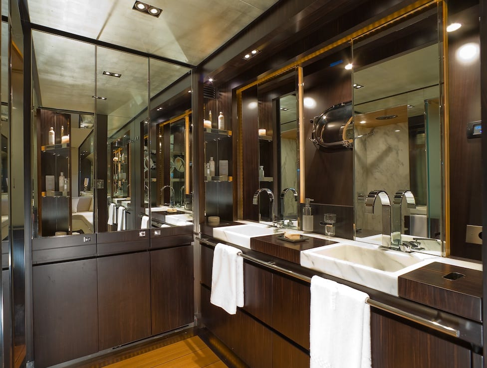 kambos blue open motor yacht master bath -  Valef Yachts Chartering - 3199