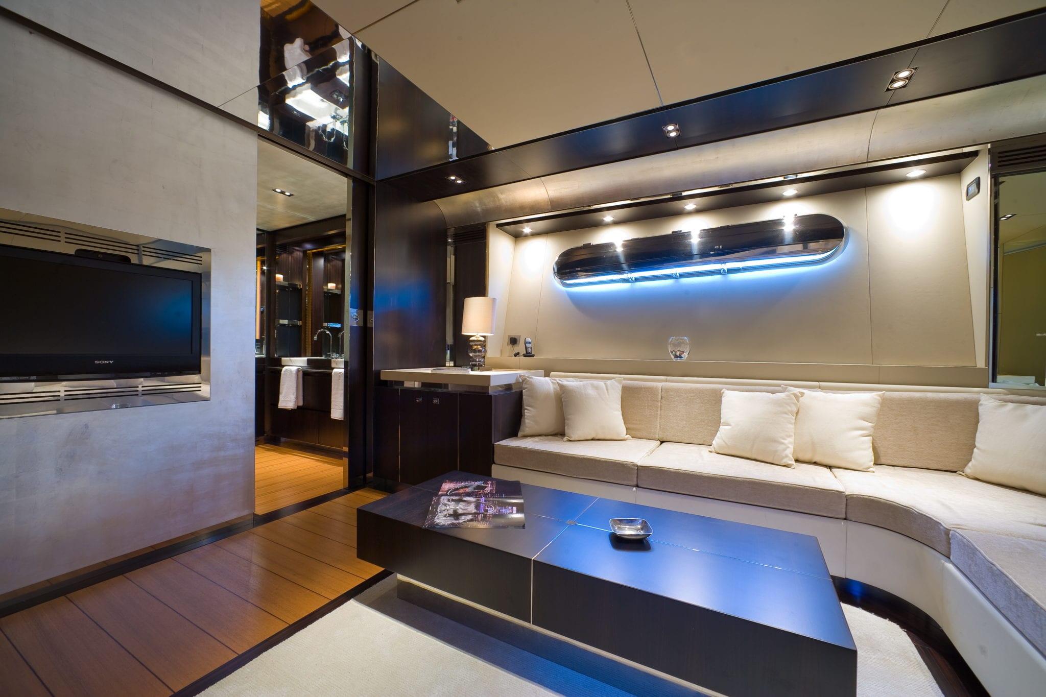 kambos blue open motor yacht master salon -  Valef Yachts Chartering - 3198