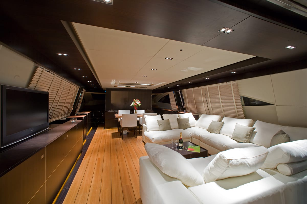 kambos blue open motor yacht salon -  Valef Yachts Chartering - 3195