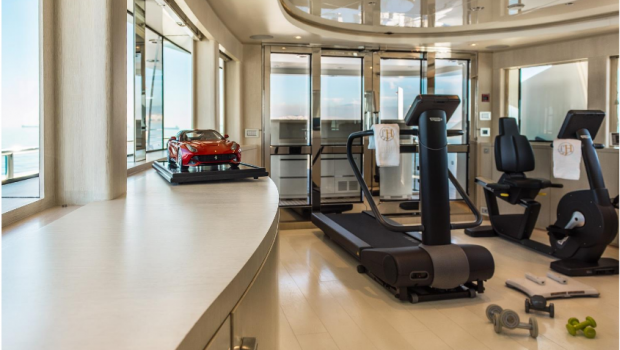 light holic megayacht gym -  Valef Yachts Chartering - 3162