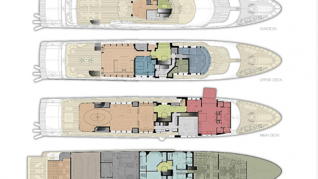 light holic megayacht layout (1) -  Valef Yachts Chartering - 3158
