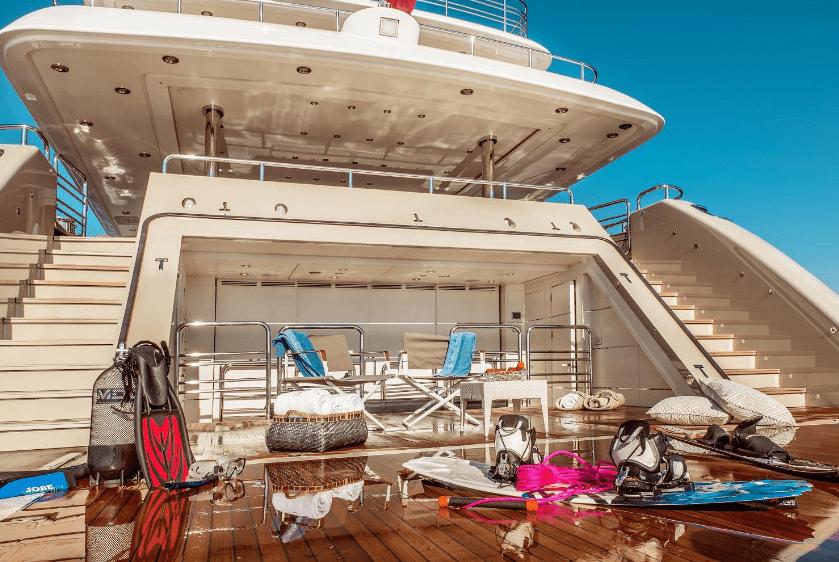 light holic megayacht swim platform -  Valef Yachts Chartering - 3161
