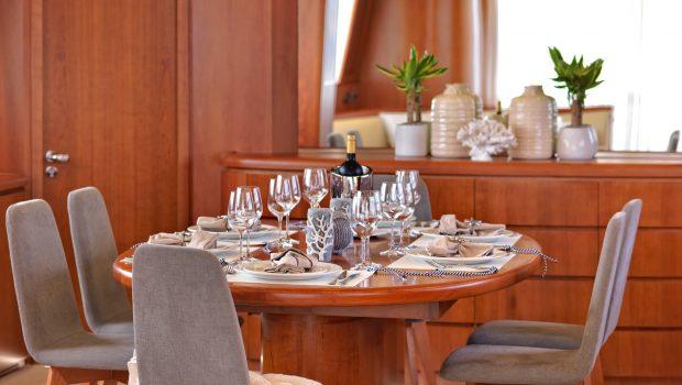 martina motor yacht dining (2) min min -  Valef Yachts Chartering - 3206