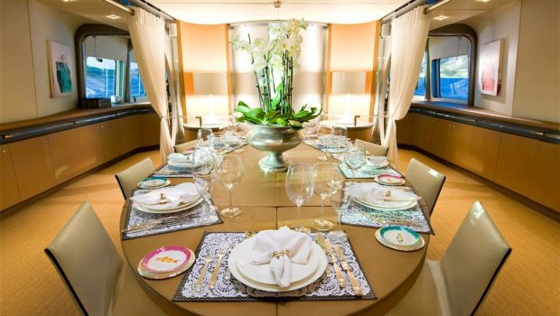 pandion motor yacht dining2 -  Valef Yachts Chartering - 3391