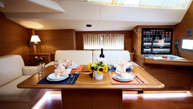shooting star sailing yacht dining and salon (2) min -  Valef Yachts Chartering - 3638