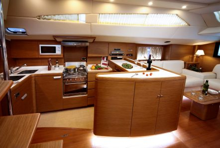 shooting star sailing yacht dining and salon (3) min -  Valef Yachts Chartering - 3637