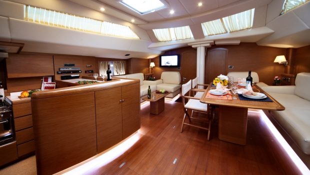 shooting star sailing yacht salon dining -  Valef Yachts Chartering - 3623