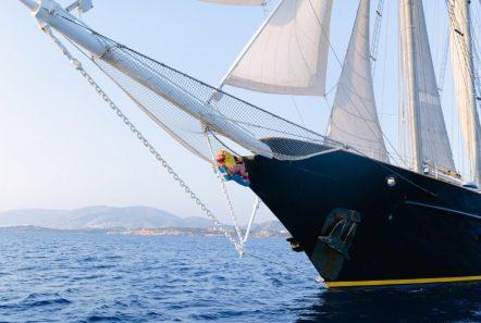 sir winston churchill classic sailing yacht bow sprit -  Valef Yachts Chartering - 2782