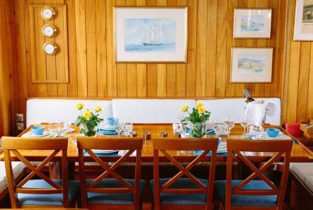 sir winston churchill classic sailing yacht dining (1) -  Valef Yachts Chartering - 2793