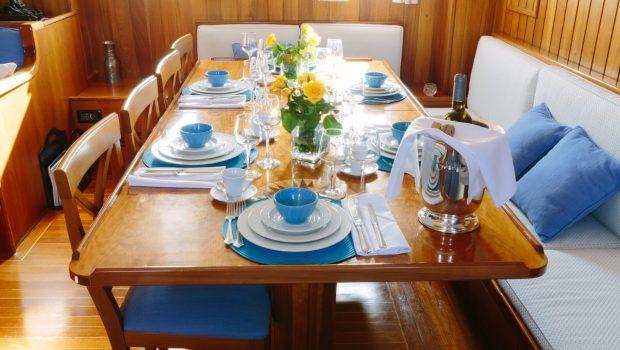 sir winston churchill classic sailing yacht dining (5) -  Valef Yachts Chartering - 2795