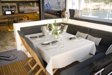 alyssa catamaran lagoon aft table -  Valef Yachts Chartering - 2325