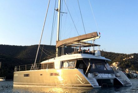 alyssa catamaran lagoon aft view (1) -  Valef Yachts Chartering - 2324