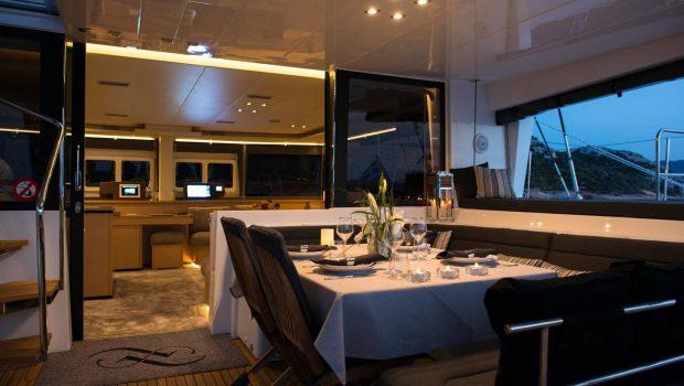 alyssa catamaran lagoon dining (2) -  Valef Yachts Chartering - 2373
