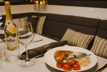 alyssa catamaran lagoon dining (3) -  Valef Yachts Chartering - 2372