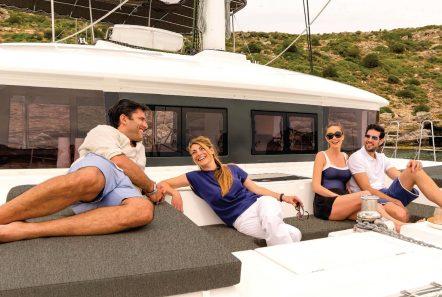 alyssa catamaran lagoon lounging -  Valef Yachts Chartering - 2339