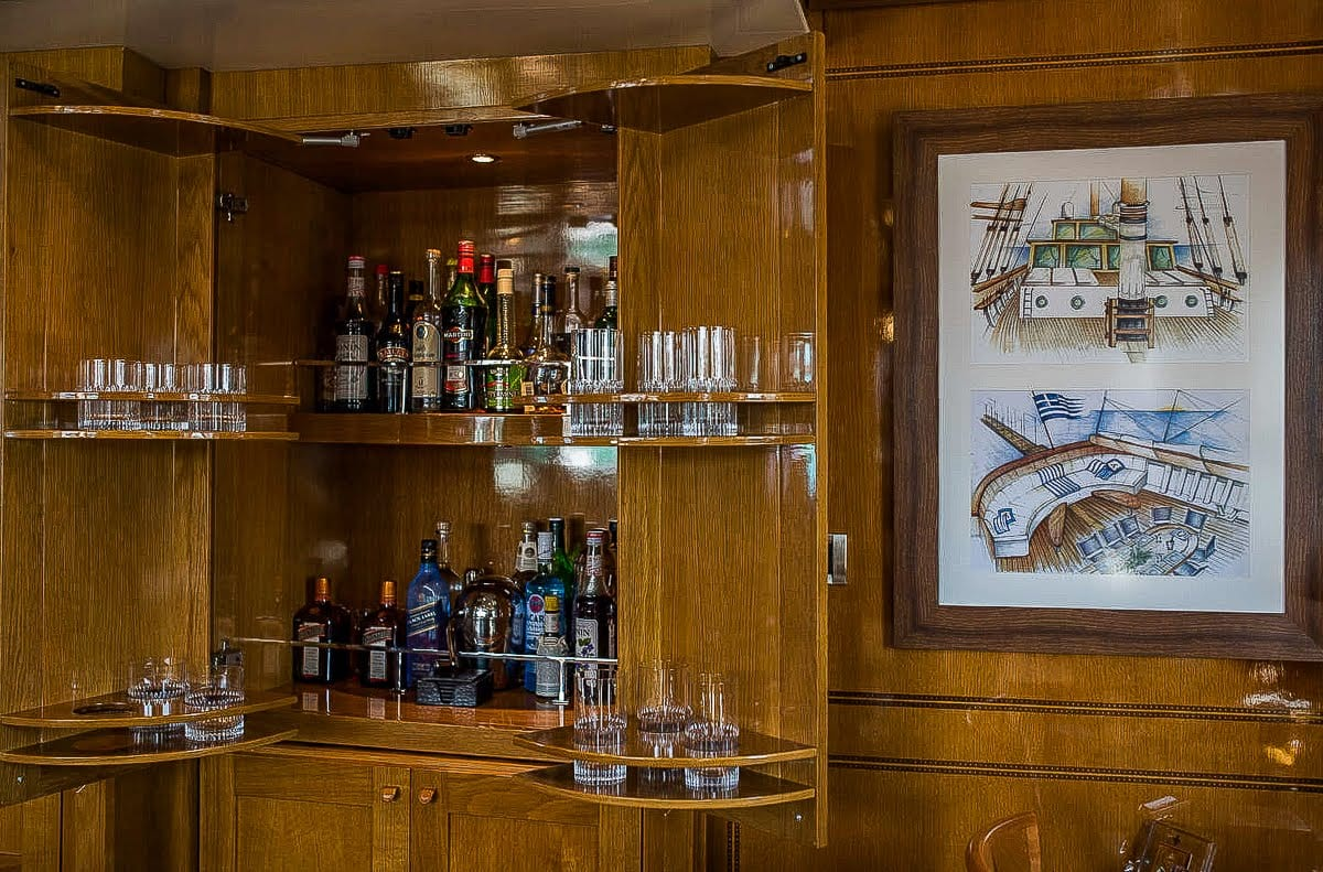 arktos motor sailer bar min -  Valef Yachts Chartering - 2295