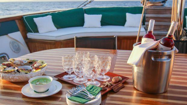 arktos motor sailer dining min -  Valef Yachts Chartering - 2257