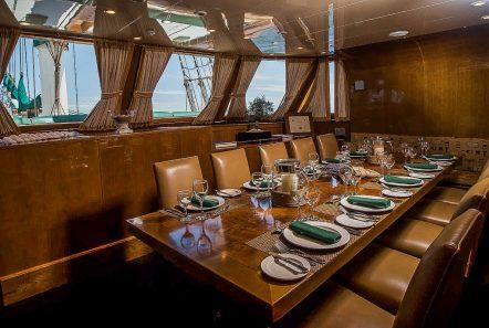 arktos motor sailer dining table min -  Valef Yachts Chartering - 2256