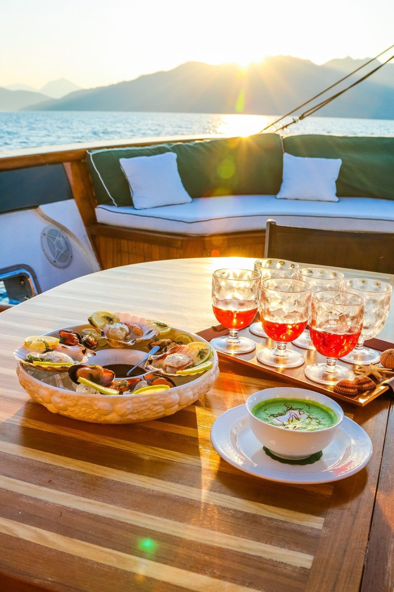 arktos motor sailer dining1 (3) min -  Valef Yachts Chartering - 2262