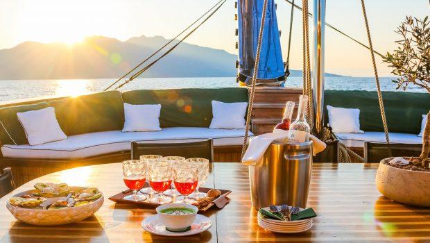 arktos motor sailer dining1 (4) min -  Valef Yachts Chartering - 2261