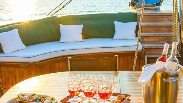 arktos motor sailer dining1 (5) min -  Valef Yachts Chartering - 2260