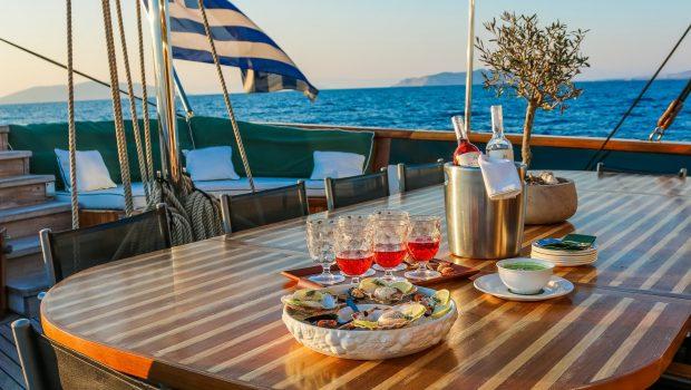 arktos motor sailer dining1 (6) min -  Valef Yachts Chartering - 2259
