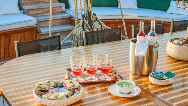 arktos motor sailer dining1 (7) min -  Valef Yachts Chartering - 2258