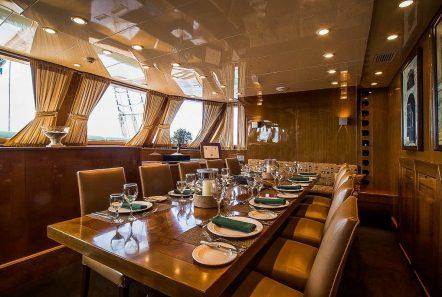 arktos motor sailer interior dining (2) min -  Valef Yachts Chartering - 2303