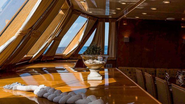 arktos motor sailer interior dining (4) min -  Valef Yachts Chartering - 2301