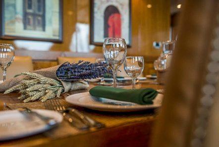 arktos motor sailer interior dining (5) min -  Valef Yachts Chartering - 2300